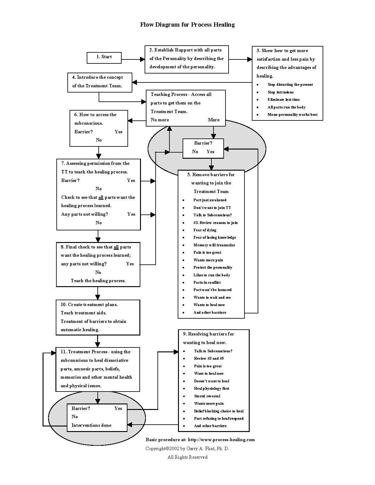 We Refer To It As The Self Process Flow Diagram Yes No For Healing 171143 Bytes